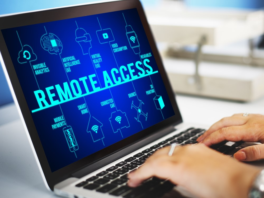 Employee with remote application access